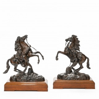 19th century bronze sculptures of the Marly horses