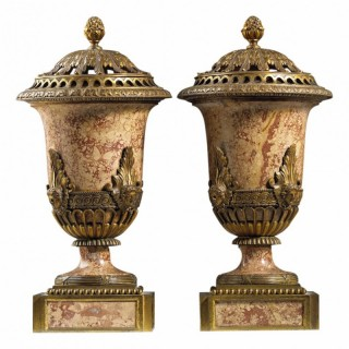RARE PAIR OF COVERED PERFUME BURNERS AFTER MATTHEW BOULTON