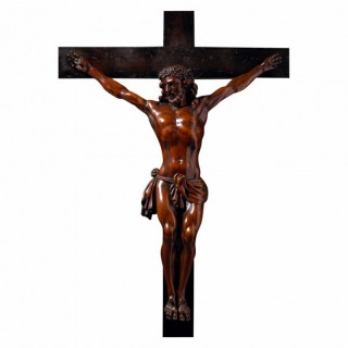 17TH CENTURY BOXWOOD FIGURE OF CHRIST VIVO