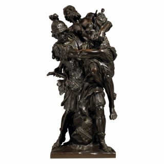 AENEAS CARRYING ANCHISES FROM TROY. AFTER PIERRE LEPAUTRE
