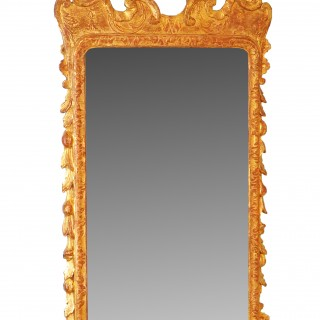 George II Giltwood & Gesso 18th Century Antique Wall Mirror