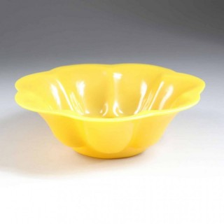 YELLOW PEKING GLASS BOWL