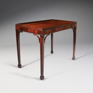 GEORGE III CHIPPENDALE SILVER TABLE