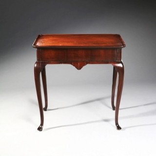 GEORGE I MAHOGANY SILVER TABLE
