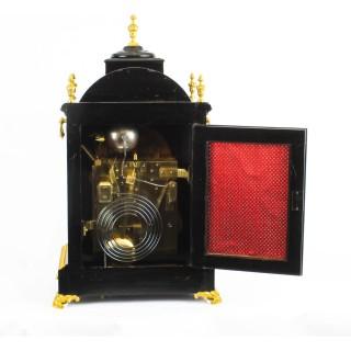 Antique Ormolu Mounted Ebonised Gilt Bronze Chiming Bracket Clock 19th C