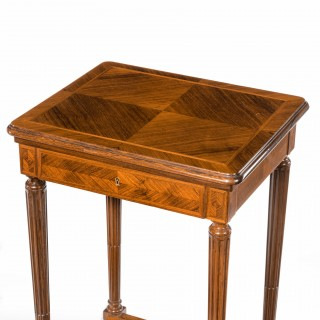 superb pair of rosewood lamp tables by Grohé of Paris