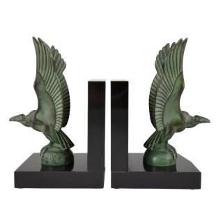 Art Deco vulture bird bookends