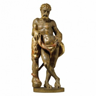 16TH CENTURY GILTWOOD STATUE OF HERCULES