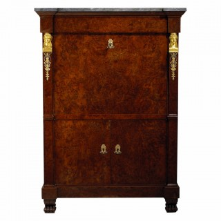 FRENCH EMPIRE COMMODE AND SECRETAIRE ABATANT – GERMAN ROYAL PROVENANCE