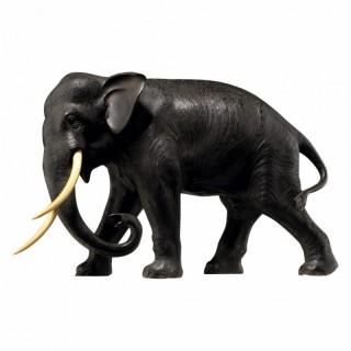 JAPANESE MEIJI STRIDING BRONZE BULL ELEPHANT