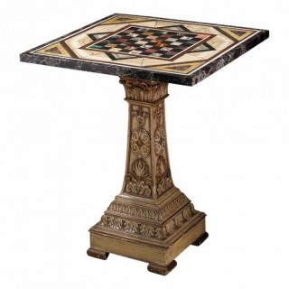 EARLY 19TH CENTURY ITALIAN PIETRA DURA SPECIMEN MARBLE TABLE