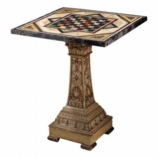 EARLY 19TH CENTURY ITALIAN PIETRA DURA SPECIMEN MARBLE TABLE