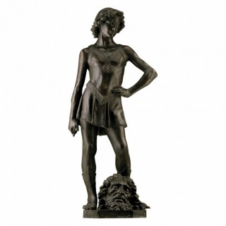 BRONZE STATUE OF DAVID AFTER ANDREA DEL VERROCCHIO