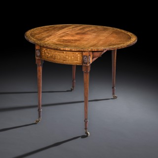 Fine George III Marquetry Pembroke Table