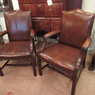 Superb Pair of !9th Century Gainsborough Armchairs
