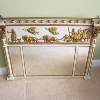 Fine George III Period Timber &  Plaster Gilt Wall Mirror