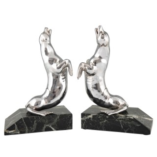 Art Deco seal bookends