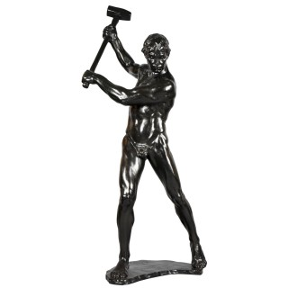 Half Size Sculpture Male Nude With Sledgehammer