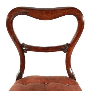 Pair of Rosewood Kidney Back Chairs
