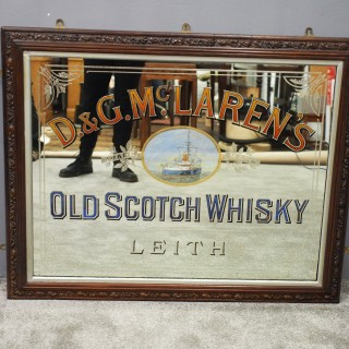 D&G McLarens of Leith Whisky Advertising Mirror