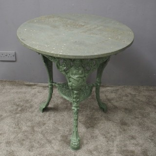 Green Cast Iron Garden Table
