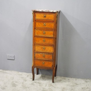 Tall French Inlaid Kingwood Chest of Drawers