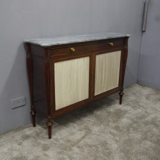 Regency Rosewood and Marble Side Cabinet