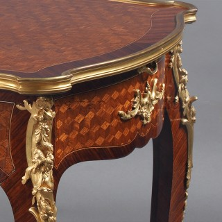 A Louis XV Style Parquetry Inlaid Writing-Table
