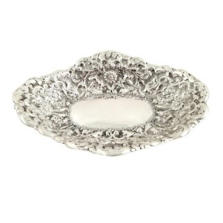Antique Victorian Sterling Silver Dish 1889