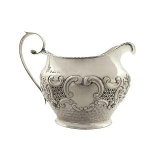 Antique Edwardian Sterling Silver Jug 1901