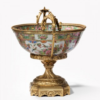Fine 19th Century Chinese Gilt Mounted Canton Centrepiece