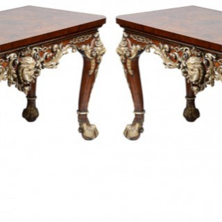 Large pair of Willaim Kent style Console tables.