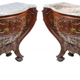 Pair Antique Venetian style commodes.