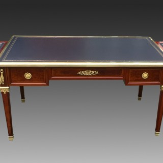 Antique French Napoleon 111 Ormolu Mounted Bureau Plat / Writing Desk