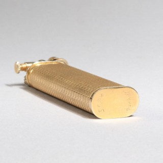 BOXED DUNHILL GOLD PLATED ENGINE TURNED SYLPH PETROL LIGHTER
