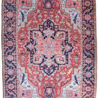Exceptional Antique Heriz carpet