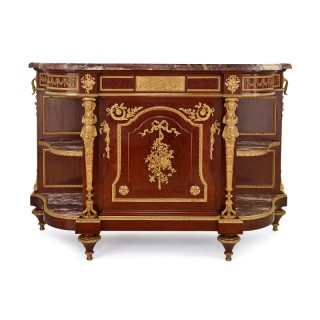 19th Century mahogany and gilt bronze cabinet by Linke