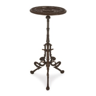 Viennese cast iron circular occasional table