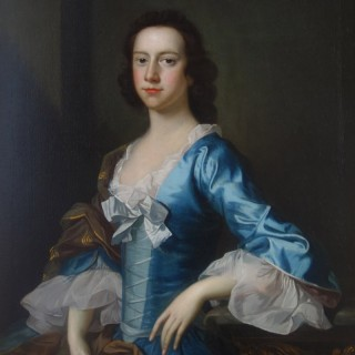 Thomas Hudson (Devon 1701-1779 Twickenham) Portrait ofYoung Lady, aged 18