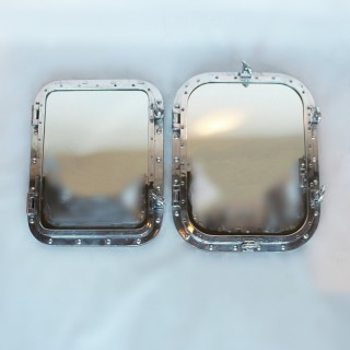 Pair of Porthole Mirrors