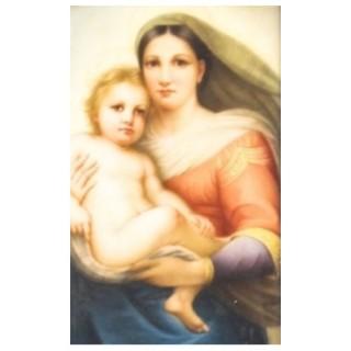 Antique Berlin KPM Plaque of Madonna & Child19th Century