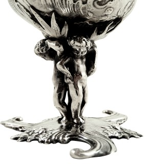Antique Victorian Sterling Silver 'Cherub' Salt 1890