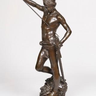 'David, the conqueror of Goliath' by J.A. Mercié