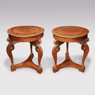 Pair Of Mid 19th Century Russian Hungarian Ashwood Centre Tables
