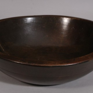 Antique Treen 18th Century Cherry Wood Culinary Bowl