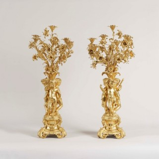 A Pair of Candelabra in the Louis XV Manner