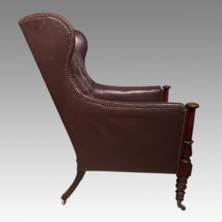 William IV mahogany library chair.