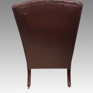 William IV mahogany library chair.