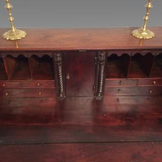 Geo III mahogany bureau.