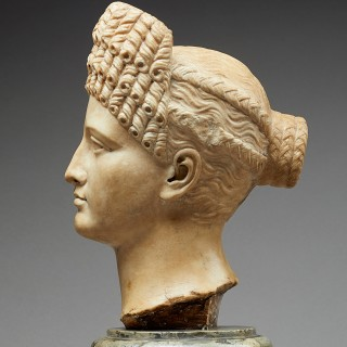 A Grand Tour Carved Marble Head of a Roman Empress